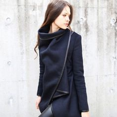 Navy woolen over coat New, small medium and large sizes available Jackets & Coats