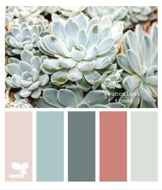 succulent tones from Design Seeds palette collection. Palettes Color, Colour Schemes, Color Combinations, Nursery Color Schemes, Color Schemes For Bedrooms, Blush Color Palette, Design Seeds, Decoration Inspiration, Color Inspiration