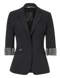 "3/4 arms blazer ""laughing with death"" 