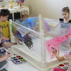 open-ended art will allow children to demonstrate exactly what is important to them. #atelier #reggioinspired #invitationtopaint
