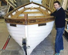 Turlough McShane with his old restored White Star Line lifeboat.It's been lying in an English hedgerow for years – but the Belfast man who has restored this vessel believes it could be a long-lost White Star Line lifeboat.Only two vessels built in Belfast by Titanic owners White Star Line still remain – Titanic tender SS Nomadic and one of her lifeboats.