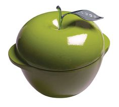 You can prepare anything in an Apple shaped enamel Dutch oven from Lodge. Want to make bread, soup, pasta, or buttery cobbler Lodge Apple shaped enamel Dutch ovens are absolutely the most versatile piece of cookware available. Apple shaped enamel Dutch ovens from Lodge are not only stylish but incredibly durable and worth your investment.  http://www.katom.com/261-E3AP50.html