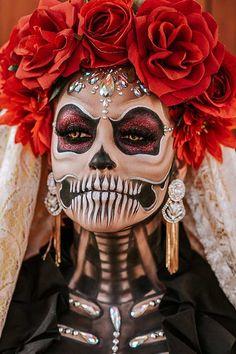 Creepy Makeup, Clown Makeup, Costume Makeup, Witch Makeup, Halloween Makeup Sugar Skull, Sugar Skull Makeup, Sugar Skulls, Last Minute Halloween Costumes, Halloween Looks