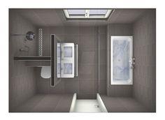 Indeling badkamer - ipv toilet, links volledig douche