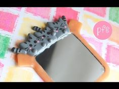 Boxed Pusheen Cat Magnet Mirror Polymer Clay Tutorial