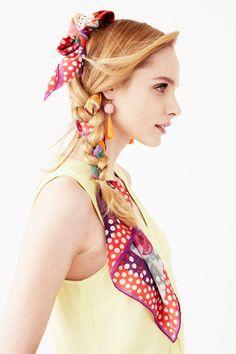 Scarf braid - summer hair