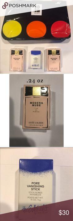 Estée Lauder bundle Two modern muse .24, one pore vanishing stick .14 Estée cosmetics bag Estee Lauder Other