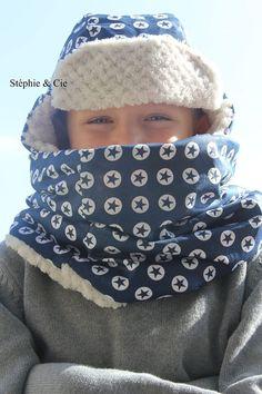 Snood Chapka tutoriel tuto modele diy polaire recup recycler plaid coton enfant garcon homme couture coudre facile