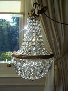 Art nouveau antique french vintage crystal chandelier lamp old art nouveau antique french vintage crystal chandelier lamp old lighting lustre crystal lamp pinterest chandelier lamps french vintage and luster aloadofball Images