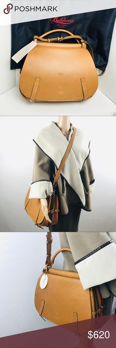 7a8f75b1bf441 Boldrini Selleria Leather Shoulder Bag Unisex Brand New With Tag