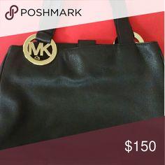Michael Kors black shoulder bag Butter soft Mk bag med/ large gently used clean inside and out. Michael Kors Bags Shoulder Bags