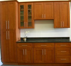 wood kitchen cabinets light cherry | shaker kitchen cabinets