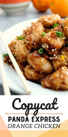 This Copycat Panda Express Orange Chicken tastes just like your favorite Chinese take-out! Plus this recipe is also gluten free. Family Fresh Meals, Easy Family Dinners, Quick Easy Meals, Family Recipes, Panda Express Recipes, Panda Express Orange Chicken, Easy Chicken Recipes, Chicken Meals, Easy Recipes
