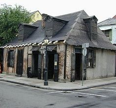 Jean Lafitte Blacksmith Shop, NOLA - One of the oldest bars in the country and very haunted...