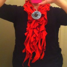 Burnt Orange Ruffle scarf I made f8a9f9dc38