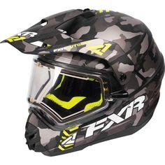FXR Torque X Squadron Urban Camo Electric Mens Snowmobile Helmets