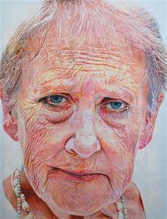 Linda (Mum) - oil on canvas - 123cm x 92cm - by Harvey Taylor