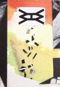 space eye, postcard collage by zoya scholis