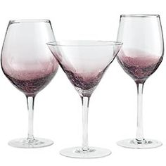 beautiful purple crackle stemware from Pier One... I just bought a pair of the goblets, we love them!!