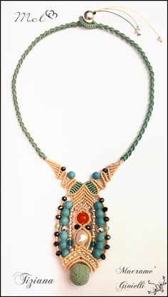 Macrame Necklace by Gioielli