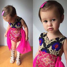 Brokat Sari Skirted Spielanzug  aller Größen von Littlemoonclothing
