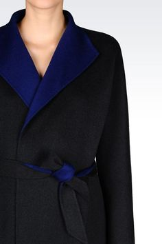 COAT IN WOOL AND CASHMERE: Single-breasted coats Women by Armani - 5Armani Collezioni $1,562 USD