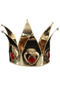 Ladies Mini Queen of Hearts Crown - Womens Alice in Wonderland Accessories