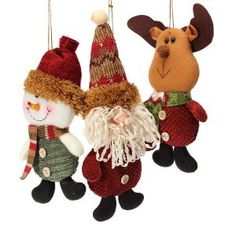 Christmas Santa Reindeer Snowman Pendant Xmas Tree Ornament Decoration These products are made of fabrics.These Santa Reindeer Snowman Pendants Christmas Gifts are so beautiful that you can buy them to decorate your home or garden.Suitable for your...