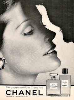 CHANEL No. 5 Perfume Bottle & Couple Ad Every by StillsofTime