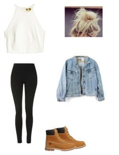 """""""Untitled #34"""" by alyssahislope22 ❤ liked on Polyvore featuring Topshop and Timberland"""