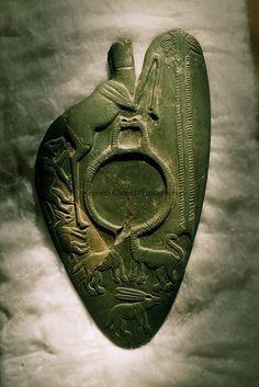 A shield shaped slate cosmetic palette, Pre-dynastic - Kenneth Garrett