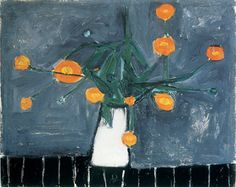 Artwork of the Month - May 2016, William Scott, Marigolds in a White Jug, 1947 or 1948, Oil on canvas, 39.4 x 49.5 cm / 15½ x 19½ in, Private collection, Hong Kong