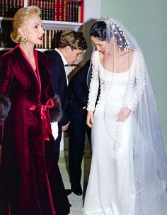 The gown that Carolina Herrera designed for her daughter, Carolina Jr.