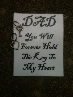 Sale Father's Day Keepsake from Daughter Dad by SimplyEdgyDesigns, $4.50