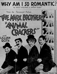 """The Marx Brothers in """"Animal Crackers"""""""
