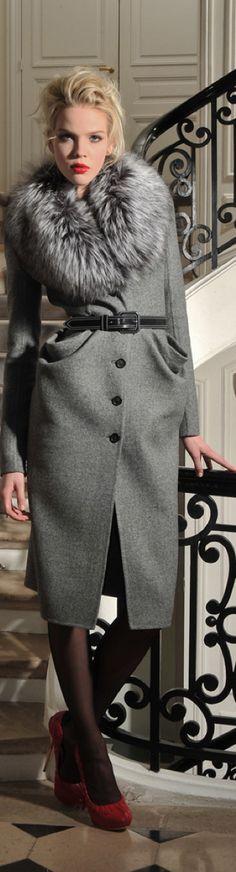 Dior grey coat