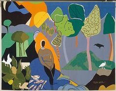 Recollection Pond (1975), Romare Bearden
