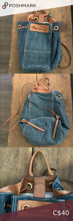 Michael Kors Denim Backpack Well loved bag Still in good condition although there is an ink stain on the inside from a pen breaking. Plus Fashion, Fashion Tips, Fashion Design, Fashion Trends, Denim Backpack, Michael Kors Backpack, Bathing Suit Bottoms, Victoria Secret Bikini, Pajama Bottoms