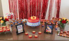 Kit para festa Mulher Maravilha | Cartholi - Arte & Mimos | Elo7