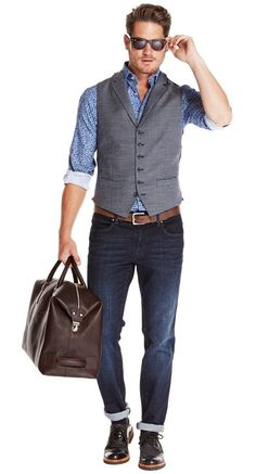 Advice On Buying Fashionable Stylish Clothes – Clothing Looks Mens Smart Casual Outfits, Business Casual Attire For Men, Elegantes Business Outfit, Men's Waistcoat, Waistcoat Men Casual, Classy Suits, Style Masculin, Herren Style, Gents Fashion