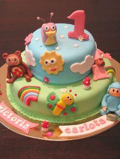 good idea for my sons first birthday Baby Cakes, Girl Cakes, Cupcake Cakes, Baby First Cake, Baby Tv Cake, 1st Birthday Cakes, Novelty Cakes, Cakes For Boys, Pretty Cakes