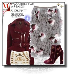 """""""I've been here since dawn of time"""" by mrs-chevious ❤ liked on Polyvore featuring McQ by Alexander McQueen, Nina Ricci, Aquazzura, Gucci, Boots, maroon, grey and gucci"""