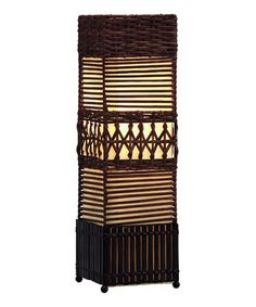 Take a look at this Rattan Weave Column Lamp by UMA Enterprises on #zulily today! $28 !!