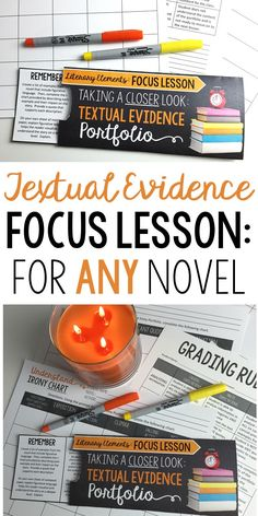 Focus Lessons | Textual Evidence | Perfect for ANY Novel | Grades 6-12