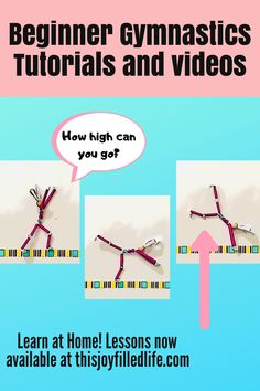 Learn basic gymnastics skills using a DIY beam made from tape. Perfect for home, preschool, elementary or daycares! Read along and watch the videos to learn new skills each day with Bea Bunny! There are even instructions for making your own Bea Bunny, just in time for Easter! Gymnastics Warm Ups, Gymnastics At Home, Gymnastics Skills, Gymnastics Equipment, Gymnastics For Beginners, Gymnastics Conditioning, Daycares, Crafts For Kids, Diy Crafts