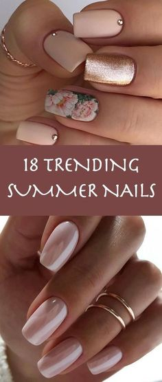 18 Trending Summer Nail Designs 2018 big name in nail polish Cute Summer Nail Designs, Cute Summer Nails, Diy Nail Designs, Cute Nails, Nail Summer, Summer Holiday Nails, Summer Nails 2018, Nagellack Design, Nagellack Trends