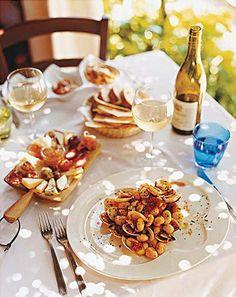 Gnocchi with clams at one of Sardinia's top tables, Locanda del Mirto, on La Maddalena Island.