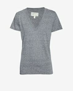 Intermix Current/Elliott Heathered V Neck Tee // Hukk to find out when it goes on sale! #hukkster #Intermix #basics @INTERMIX