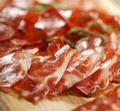 Our salami and prosciutto sliced paper thin. Super delicious – sweet and salty, great with a chunk of bread and some cheese.