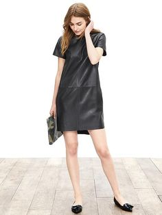 Very cute Leather-Front Tee Dress and not $$$. Perfect day to night